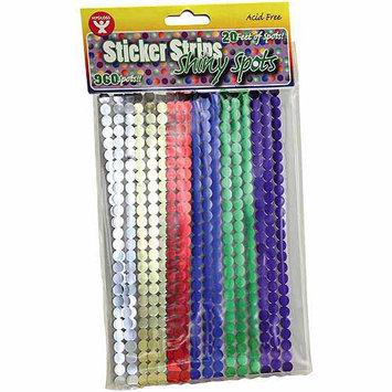 Hygloss NOTM343457 - Shiny Spots Sticker Strips