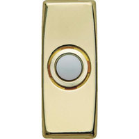 Carlon Brass Body/White Lighted Button DH1608L by Thomas & Betts