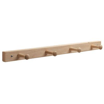 Interdesign #91518 4Peg NAT Lacq Wood Rack