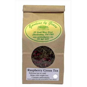 Gardens By Grace 09593X Organic Loose Leaf Raspberry Flavored 4 Oz Tea