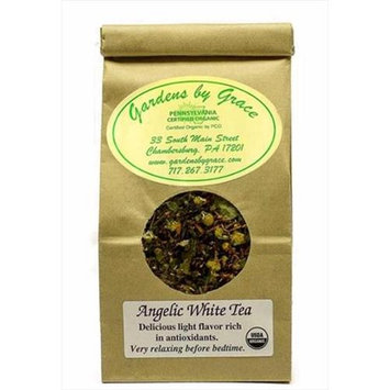 Gardens By Grace 09594X Tea Organic Loose Leaf Angelic White 4 Oz