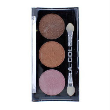 L.A. COLORS 3 Color Eyeshadow - Orchid