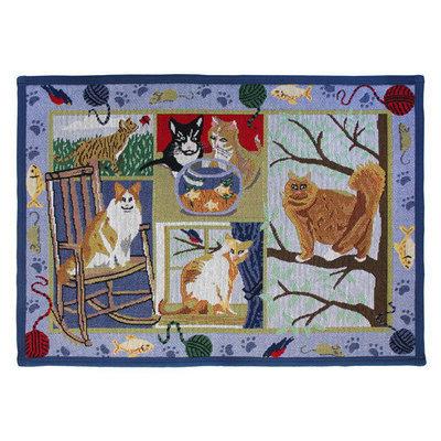 Park B Smith Ltd PB Paws & Co. Multi Cat Days Tapestry Rug