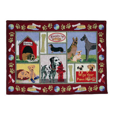 Dog Days 19-Inch x 27-Inch Red Pet Mat