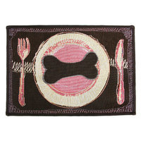 Park B Smith Ltd PB Paws & Co. Woodland Dog's Dinner Tapestry Rug
