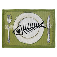 Park B Smith Ltd PB Paws & Co. Multi Meow Meal Tapestry Rug