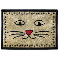 Park B Smith Ltd PB Paws & Co. Gold / Black Kitty Whiskers Tapestry Rug