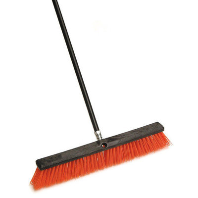 Cequent Laitner Company Laitner Brush Company 24 Stiff Outdoor Push Broom With 60