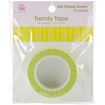 Queen & Co Girl Trendy Tape 15mm X 10yds-Green Stripes