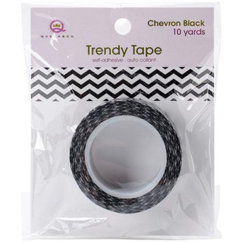 Queen & Co Trendy Tape Core Collection 15Mmx10yd-Chevron Black