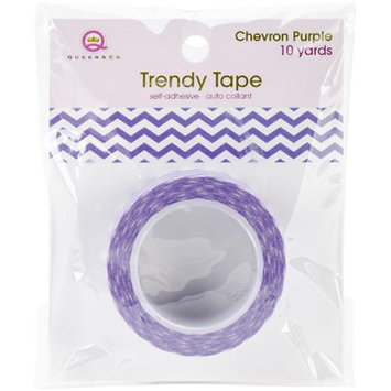 Queen & Co Trendy Tape Core Collection 15Mmx10yd-Chevron Purple