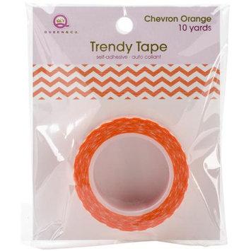 Queen & Co Trendy Tape Core Collection 15Mmx10yd-Chevron Orange