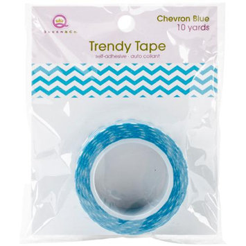 Queen & Co Trendy Tape Core Collection 15Mmx10yd-Chevron Blue
