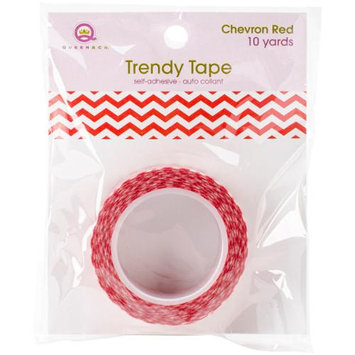 Queen & Co Trendy Tape Core Collection 15Mmx10yd-Chevron Red