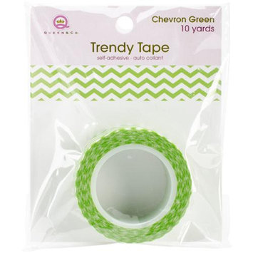 Queen & Co Trendy Tape Core Collection 15Mmx10yd-Chevron Green