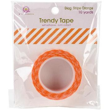 Queen & Co Trendy Tape Core Collection 15mmX10yd-Diagonal Stripe Orange