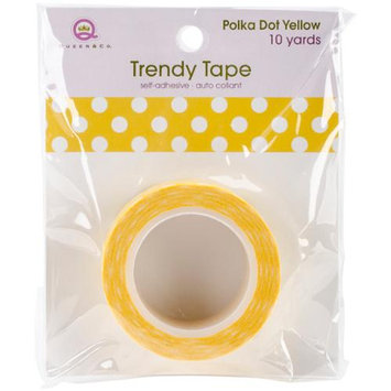 Queen & Co Trendy Tape Core Collection 15Mmx10yd-Polka Dot Yellow