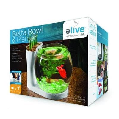 Elive Betta Bowl And Planter .75 Gallon White 01002