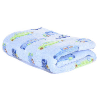 Tadpoles 3D Cars Jacquard Blanket in Blue