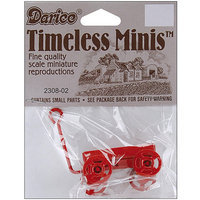 Darice 365832 Timeless Miniatures-Red Wagon
