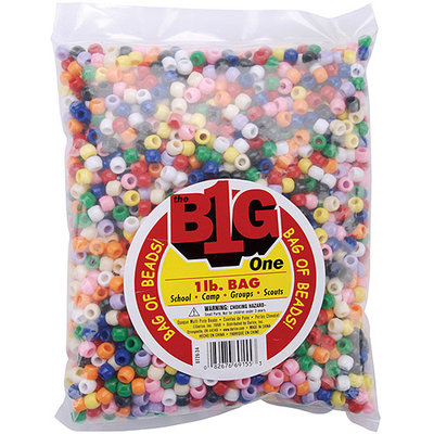 Darice 0726-36 Pony Beads 9mm 1 Pound/Pkg