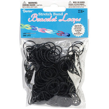 Darice Inc Darice RB1-1004 Mini Rubber Bands 300-Pkg with 12 Clips-Yellow