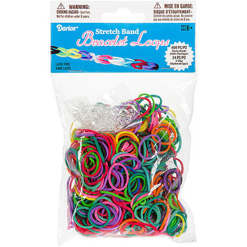 Darice Inc Darice RB1011 Mini Rubber Bands 600-Pkg with 24 Clips-Multicolor