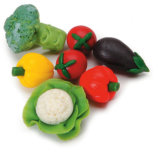 Darice Timeless Miniatures Assorted Vegetables (Pack of 7)