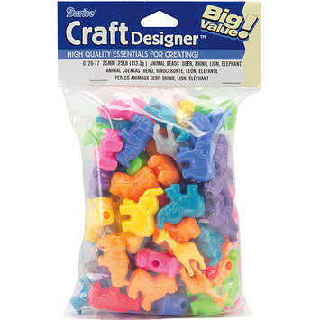 Darice Inc Darice BD0726-79 Character Beads 25mm 1-4 Pound-Sea Life-Turtle-Dolphin-Seal-Whale