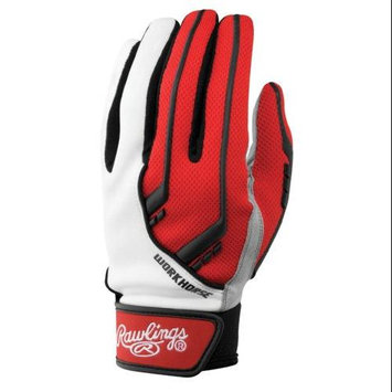 Rawlings BGP1050T - 1050 Workhorse Batting Gloves, Scarlet, Small