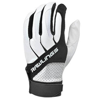 Rawlings Youth Batting Gloves, Black - Medium