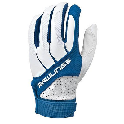 Rawlings Youth Batting Gloves, Royal - Large