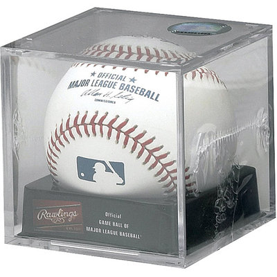 Rawlings ROMLB Official Major League Baseball with Display Cube
