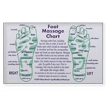 Joy of Health: Foot Massage Reflexology Wallet Cards