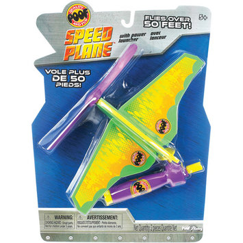 POOF-Slinky 2145BL POOF Foam Turbo Spin Speed Plane with Power Launcher and Soft Rotor Blades Assorted Colors