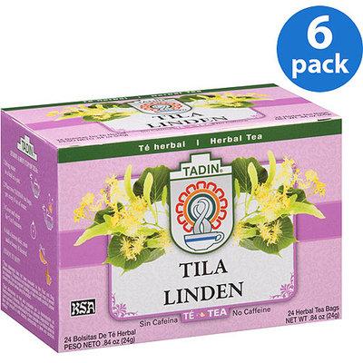 Tadin Tea Tadin Tila Linden Herbal Tea Bags, 24 count, 0.84 oz, (Pack of 6)