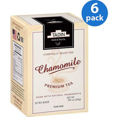 Tadin Tea Tadin Chamomile Tea Bags, 20 count, .705 oz, (Pack of 6)