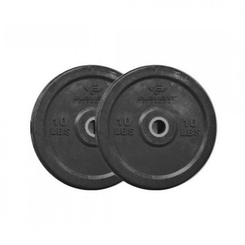 Unified Fitness Group Commercial Black Bumper Plates Weight: 45 lbs