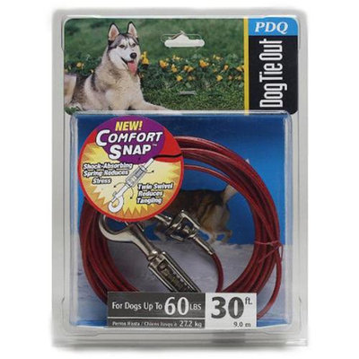 PDQ Dog Tie Out Cable with Spring 30ft (Q3530 SPG 99)