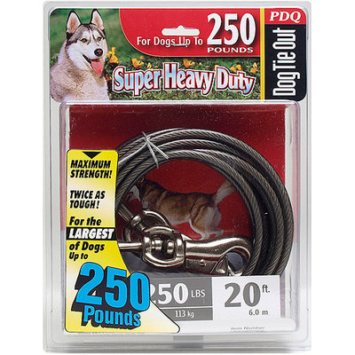 PDQ Super Heavy Duty Dog Tie Out Cable 20ft (Q6820-000-99)