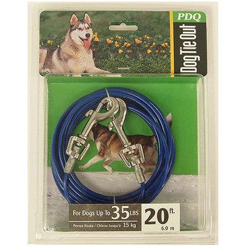 Warren Pet Products Q232000099 Blue Medium Tie Out, 20 feet 35 lbs