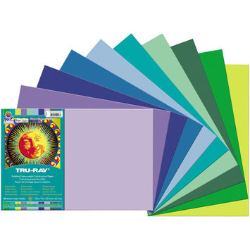 Pacon Corporation Pacon Tru-Ray Construction Paper, Assorted Cool Colors NEW!