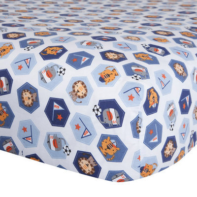 Bedtime Originals Baby League Crib Fitted Sheet