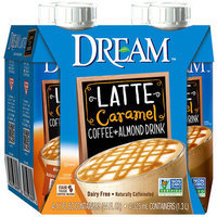 Dream Latte Caramel Coffee + Almond Drink, 11 fl oz, 4 pack
