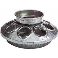 Miller Galvanized Round Jar Feeder Ba 1 Quart