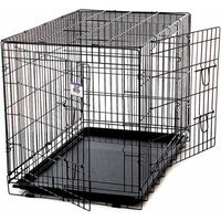 Jensen Distributing - Lawn & Garden Miller Manufacturing 154758 Extra Large Black Pet Crate