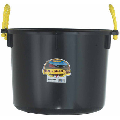 Little Giant Farm PSB40BLACK 40 Quart Muck Tub, Black