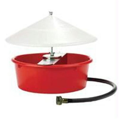 Iowa Veterinary Supply Co Miller Mfg Co Inc Little Giant Automatic Poultry Waterer- Red 5 Quart - 166386