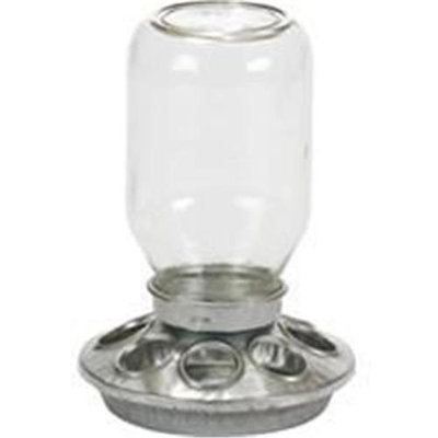Horseloverz Mason Jar Baby Chick Feeder 1 Quart Clear