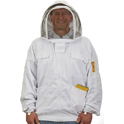 Apparel & Accessories: Little GIANT Safety Equipment & Protective Gear Large Cotton Bee Keeper Jacket